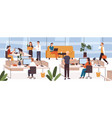 busy people in office company modern workplace vector image vector image