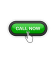 call now green realistic 3d button isolated