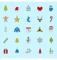 Christmas icons set Holiday New Year icons vector image vector image