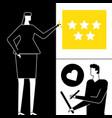 company testimonials - flat design style vector image