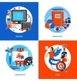 Creative Design Concept Icons Set vector image vector image