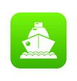 cruise ship icon green vector image