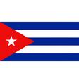 Cuban flag vector image vector image