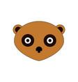 cute panda face icon vector image vector image