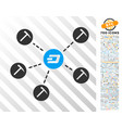 dash mining network flat icon with bonus vector image vector image
