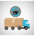 delivery truck concept fast delivery box vector image vector image