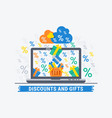 discounts and gifts vector image vector image