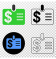 dollar badge eps icon with contour version vector image