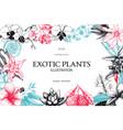 Exotic plants background