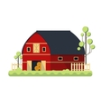 Farming barn flat for storing hay vector image