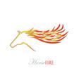 fire horse logo vector image