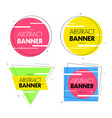 geometric banners promo labels vector image vector image
