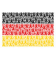 germany flag mosaic of mourning ribbon icons vector image vector image