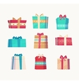 Gift set Christmas card poster banner vector image vector image