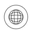 global sphere symbol vector image