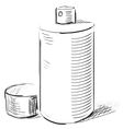 Graffiti spray can on a white background vector image vector image
