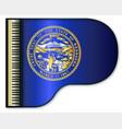 grand piano nebraska flag vector image vector image
