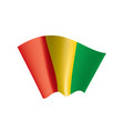 guinea flag vector image vector image