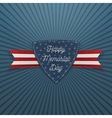 Happy Memorial Day textile Emblem and Ribbon vector image vector image