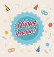 happy purim vector image vector image
