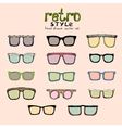 hipster retro glasses vector image vector image