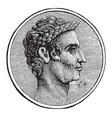 julius caesar vintage vector image vector image