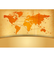 map of the world with plane vector image vector image