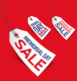 Memorial Day sale tags vector image