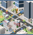 modern city crossroad detailed isometric vector image vector image