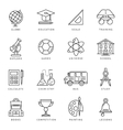Monochrome School Icon Set vector image vector image