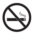 no smoking sign on white background no smoking vector image vector image