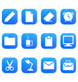 office icon set on white background vector image vector image