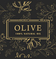 olive with leaves on dark background seamless vector image vector image