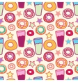 Pattern sweet donuts vector image vector image