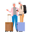 people traveling together grandmother grandfather vector image vector image