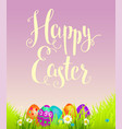 positive easter background with flowers vector image vector image