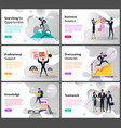 professional goals and business career building vector image vector image