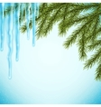 Realistic christmas background vector image