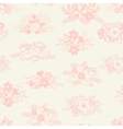 romantic seamless pattern of floral bouquets vector image vector image