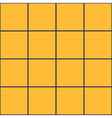 Royal Blue Grid Square Yellow Background vector image