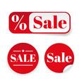 sale sticker set label vector image vector image
