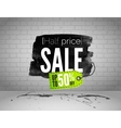 Sale watercolor banner with splashes vector image vector image