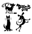 set of dog signs vector image vector image