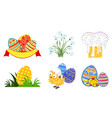 set of easter icons in format eps10 vector image