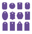 set of violet stickers labels icons and banners vector image vector image