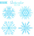 Set of watercolour snowflakes vector image vector image