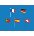 set of west europe flags like France vector image vector image