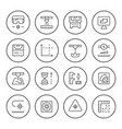 set round line icons laser cutting vector image vector image