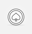 spades card suit concept icon in thin line vector image vector image