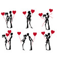 stock figure valentines day couple vector image vector image
